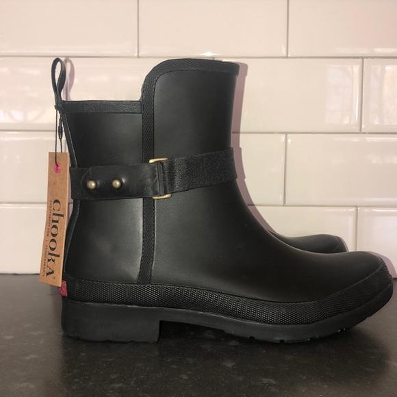 Womens Waterproof Sidewalk Rain Boot